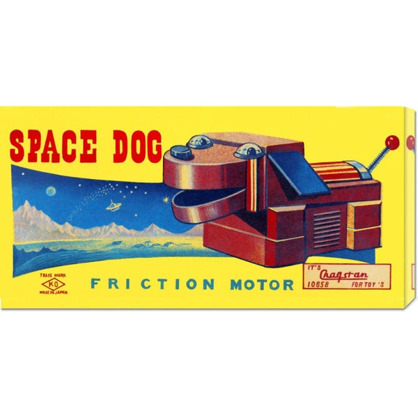 Retrobot 'Space Dog' Stretched Canvas