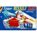 Retrotrans 'Space Missile Tank' Stretched Canvas