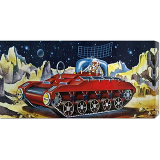 Retrotrans 'Space Exploration Tank' Stretched Canvas