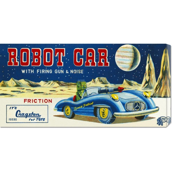Retrotrans 'Robot Car with Firing Gun & Noise' Stretched Canvas