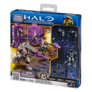 Mega Bloks Halo Covenant Silver Combat Unit Playset