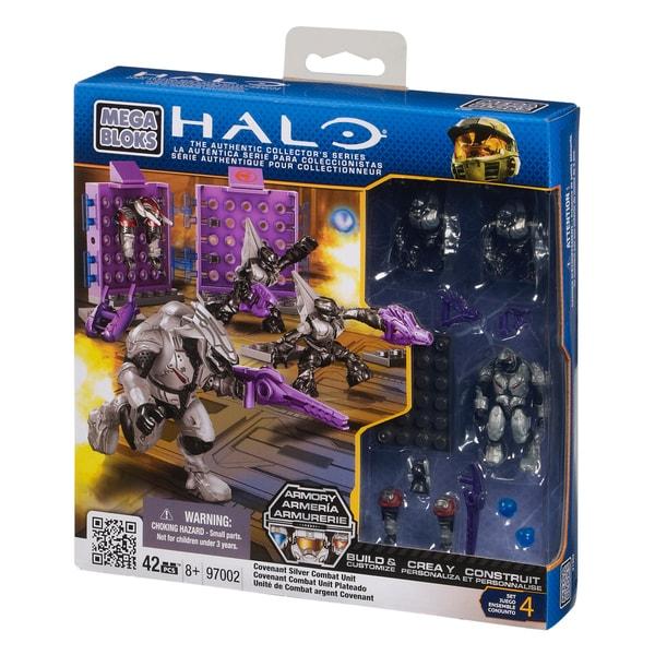 Mega Bloks Halo Covenant Silver Combat Unit Playset