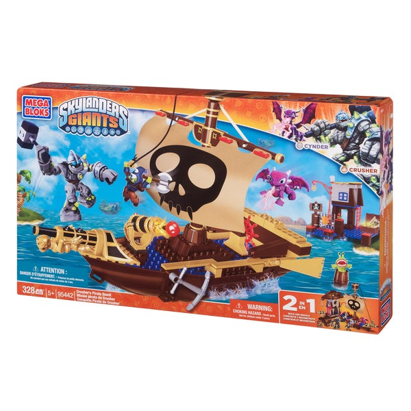 Mega Bloks Skylanders Crusher's Pirate Quest Playset 10399244