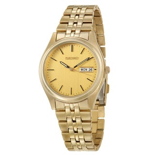 Seiko Men's 'Dress' Yellow Goldplated Stainless Steel Watch