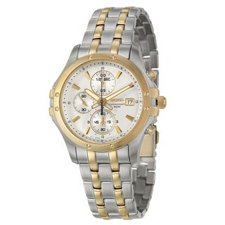 Seiko Men's 'Le Grand Sport' Yellow Goldplated Chronograph Watch