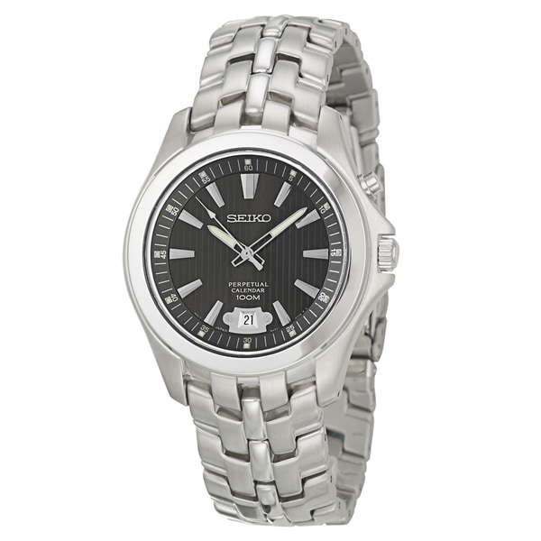Seiko Men's 'Perpetual Calendar' Stainless Steel Watch