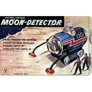 Retrotrans 'Moon-Detector' Stretched Canvas Artwork