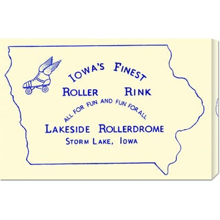 Big Canvas Co. RetroRollers 'Iowa's Finest Roller Rink' Stretched Canvas Art