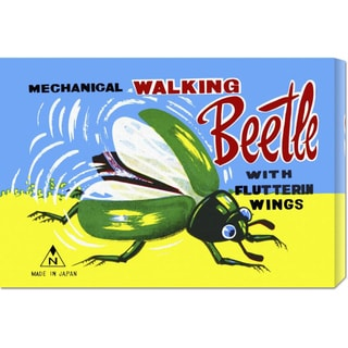 Retrobot 'Mechanical Walking Beetle' Stretched Canvas Art