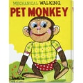 Retrobot 'Mechanical Walking Pet Monkey' Stretched Canvas Art