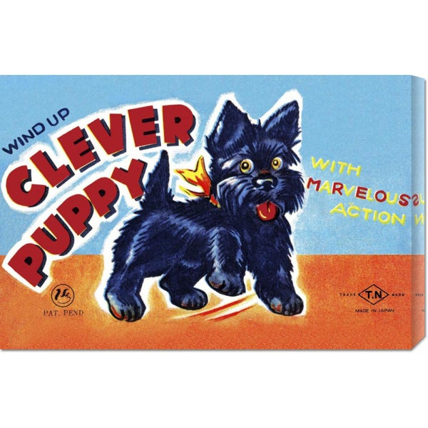Retrobot 'Wind Up Clever Puppy' Stretched Canvas Art