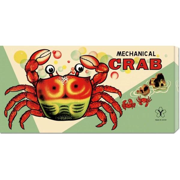 Big Canvas Co. Retrobot 'Mechanical Crab' Stretched Canvas Art