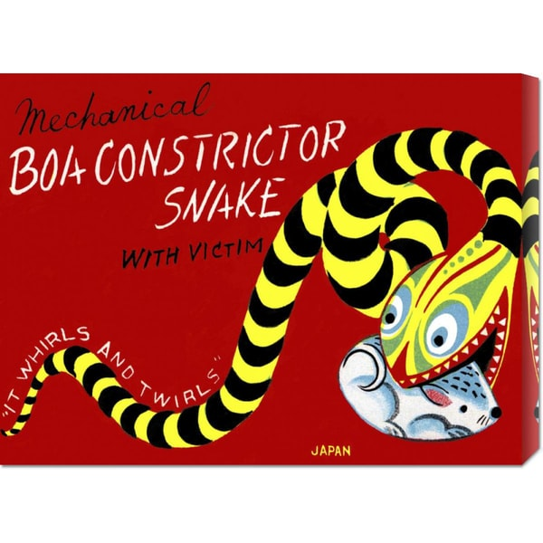 Retrobot 'Boa Constrictor Snake with Victim' Stretched Canvas Art