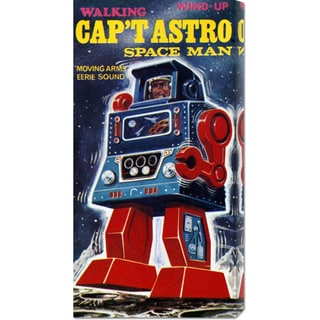 Retrobot 'Cap't Astro Space Man' Stretched Canvas Art