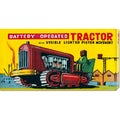 Retrobot 'Battery Operated Tractor' Stretched Canvas Art