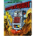 Retrobot 'Super Robot' Stretched Canvas Art