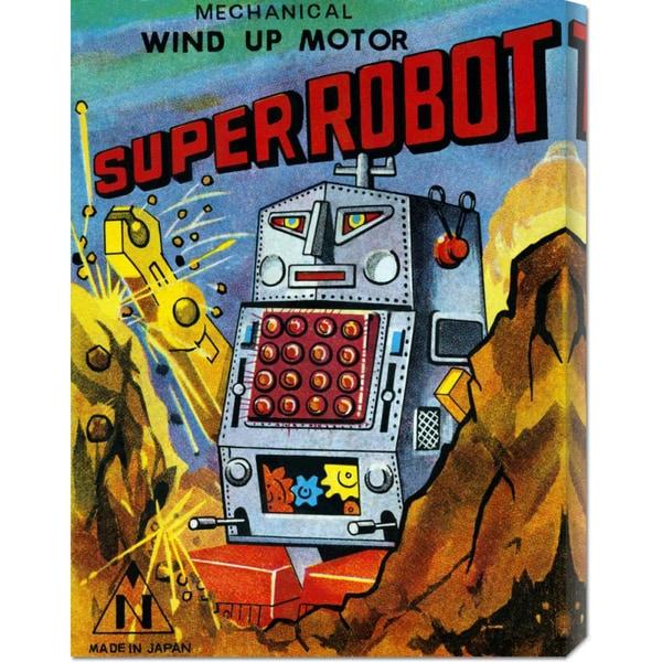 Big Canvas Co. Retrobot 'Super Robot' Stretched Canvas Art