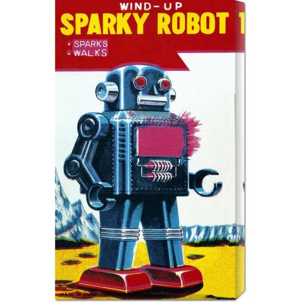 Big Canvas Co. Retrobot 'Sparky Robot' Stretched Canvas Art