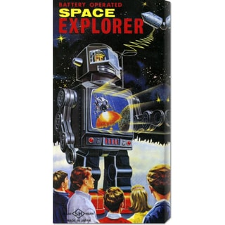 Retrobot 'Battery Operated Space Explorer' Canvas Art