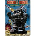 Retrobot 'Missile Robot' Stretched Canvas Art