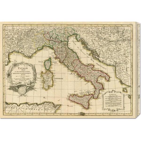 Big Canvas Co. Jean Janvier 'L'Italie, 1780' Stretched Canvas Art