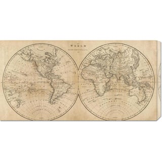 Mathew Carey 'The World, 1825' Stretched Canvas