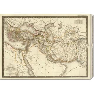 Adrien Hubert Brue 'L'Empire d'Alexandre, 1822' Stretched Canvas