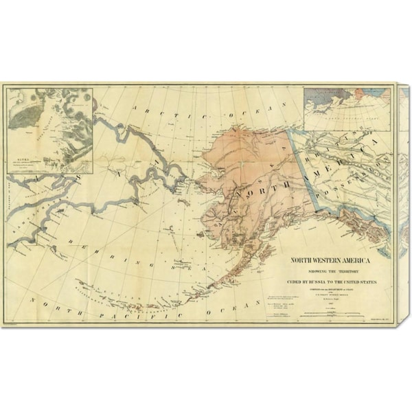 Big Canvas Co. Charles Sumner 'Northwestern America Showing The Territory Ceded By Russia To The United States, 186