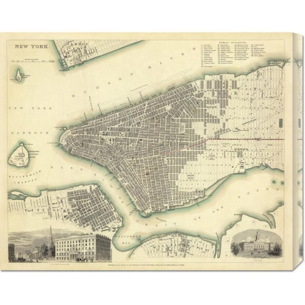 Society for the Diffusion of Useful Knowledge 'New York, NY, 1840' Stretched Canvas