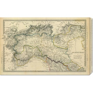Society for the Diffusion of Useful Knowledge 'Ancient Italy I, 1832' Stretched Canvas