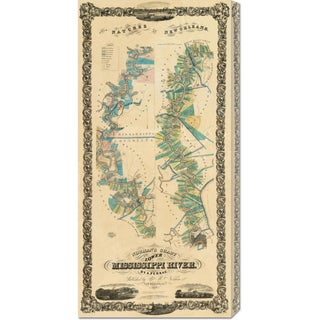 B.M. Norman 'Chart of The Lower Mississippi River, 1858' Stretched Canvas Art