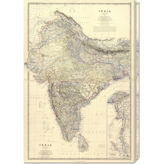 Alexander Keith Johnston 'Composite: India, 1861' Stretched Canvas Art