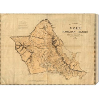 Big Canvas Co. Hawaiian Government Survey 'Oahu, Hawaiian Islands, 1881' Stretched Canvas Art