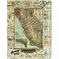 George W. Blum 'Map of California Roads for Cyclers, 1896' Stretched Canvas Art