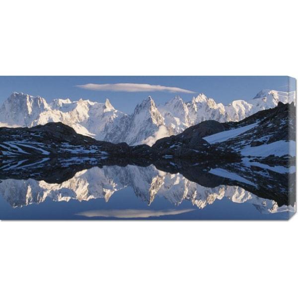 Gavriel Jecan 'Mont Blanc, Aiguille du Midi (detail)' Stretched Canvas Art