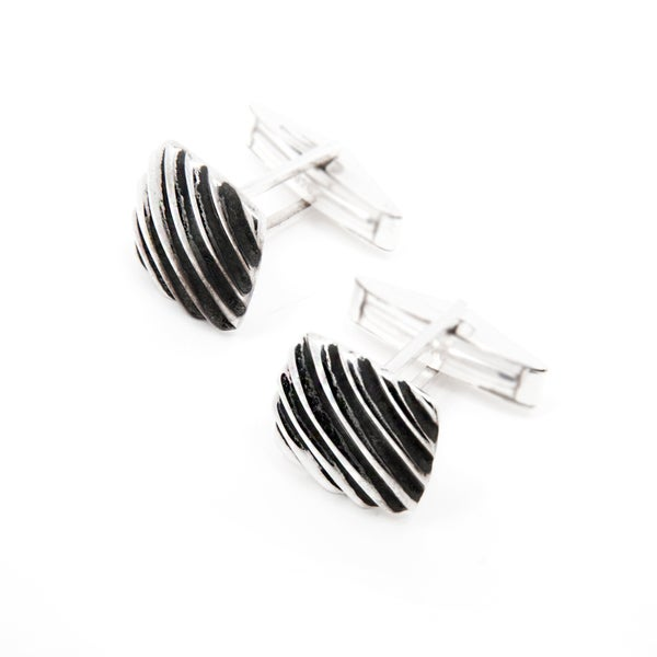 Handcrafted Sterling Silver Cufflinks (India)