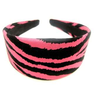 Crawford Corner Shop Black Pink Zebra Headband