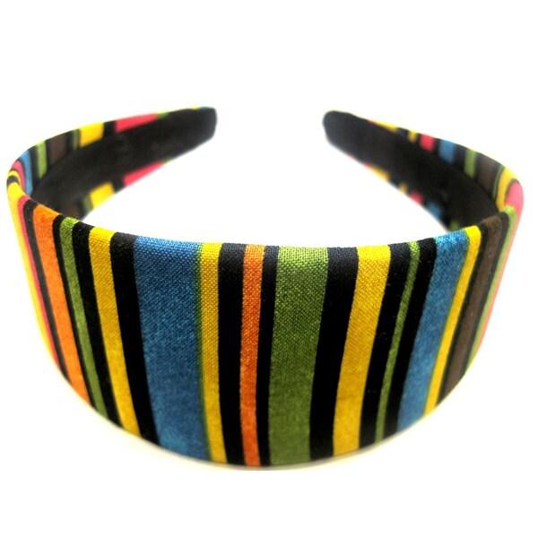 Crawford Corner Shop Multi Colored Striped Headband