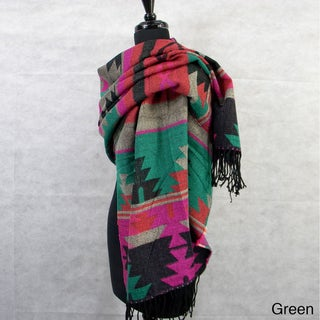 Large Navajo Sytle Colorful Tapestry Scarf/Wrap/Shawl