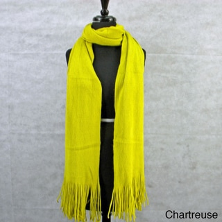 Solid Soft Luxury Scarf with Fringe