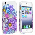 BasAcc Clear/ Flower Style 5 Snap-on Case for Apple iPhone 5
