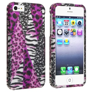 BasAcc Purple Safari Design Snap-on Case for Apple iPhone 5