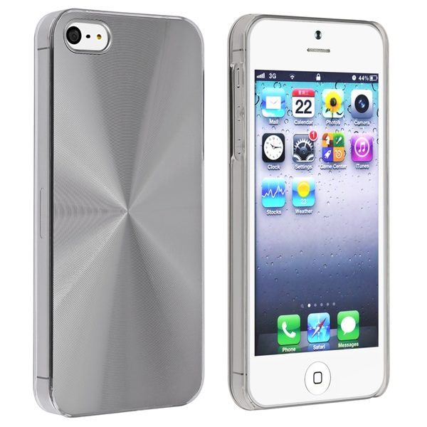 BasAcc Metallic Silver Snap-on Case for Apple iPhone 5