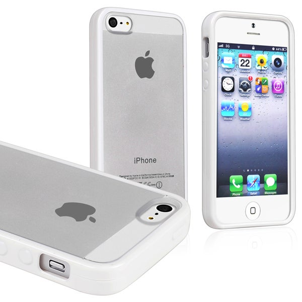 BasAcc Frost Clear/ White Bumper Snap-on Case for Apple iPhone 5