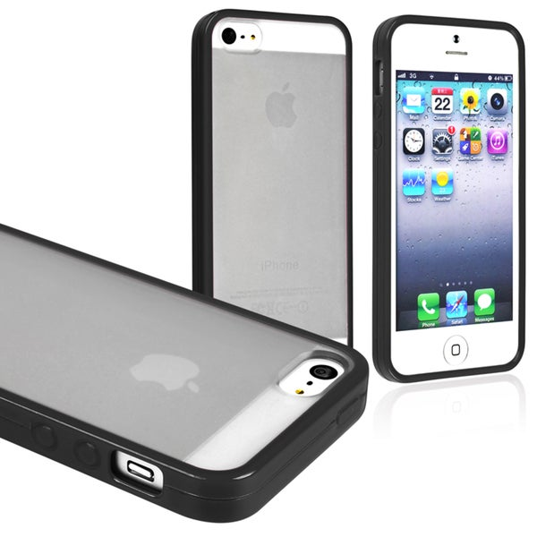 BasAcc Clear/ Black Bumper Snap-on Case for Apple iPhone 5