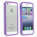 BasAcc Clear/ Purple Bumper Case for Apple iPhone 5