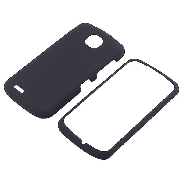 BasAcc Black Snap-on Rubber Coated Case for Pantech Marauder
