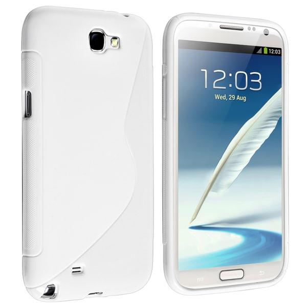 BasAcc White S Shape TPU Case for Samsung Galaxy Note II N7100