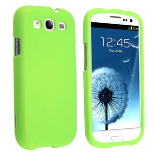 BasAcc Neon Green Rubber Coated Case for Samsung Galaxy S III/ S3