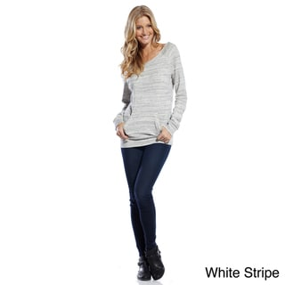 Elan Women's Long Sleeve Kangaroo Pocket Top